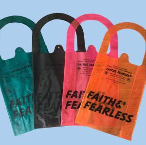 Custom Summer Beach Clear PVC Shoulder Shopping Bag Transparent Tote Bag