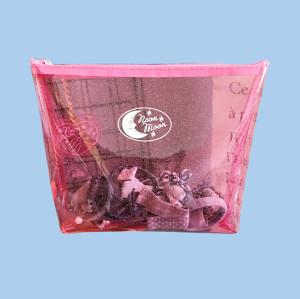 printed glitter pvc cosmetic zipper bags