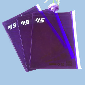 Custom Purple PVC transparent ziplock bag