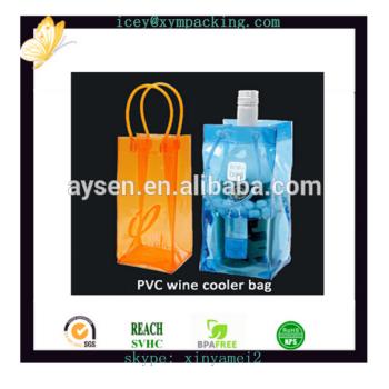 Oem plástico transparente PVC saco do presente do vinho fornecimento de fábrica