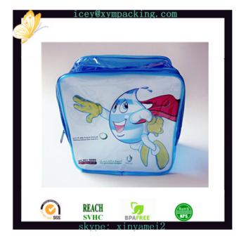 Qualidade DO OEM em forma de desenhos animados sacos de pvc com zíper