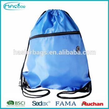 Gros personnalisée recyclé Polyester sac de sport, Avec coulisse Gym sac à chaussures
