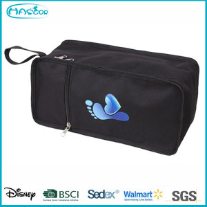 Custom waterproof PVC beautiful travel shoe bag for wholesale
