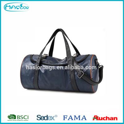 Mens leather travel bag/ trolley luggage bag