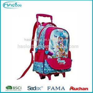 Nouvelle mode sac à roulettes de l'école gros enfants sac à dos avec roues pour filles
