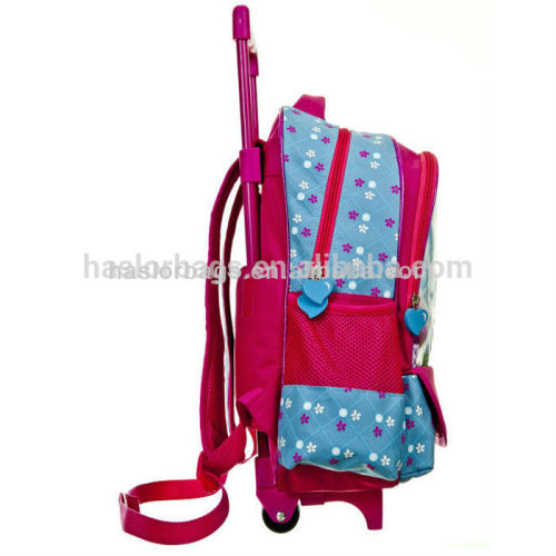 New Fashion School Trolley Bag Wholesale Kids Backpack with Wheels for Girls
