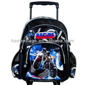 Enfants mignon modèle de moto chariot sac à dos
