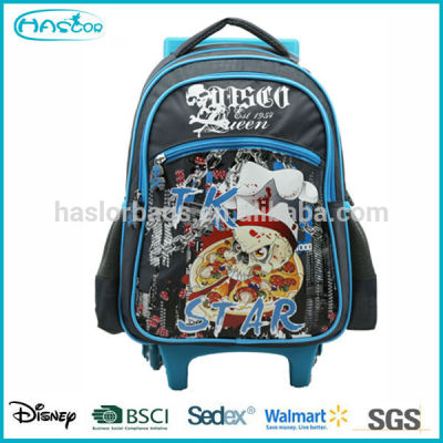 2016 New Design Kids School Trolley Bag With 4 wheels