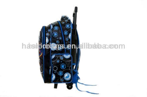 Wholesale Kids Trolley School Bag with Wheels for Boys Trolley Backpack