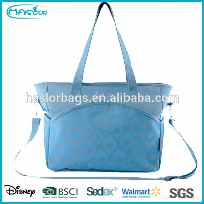 2015 new style quilted diaper bag with long handle
