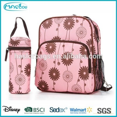 Dual Purpose Baby Nappy Bag with Feeding Bottle Bag