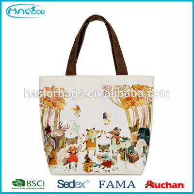 Wholesale Girls Cute Printed Custom Canvas Tote Bag