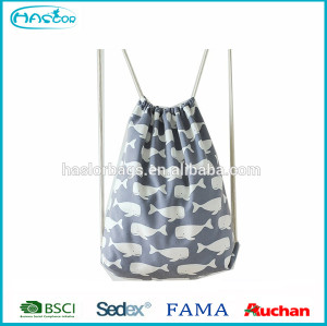 Promotional drawstring bag for shopping with costomized printing