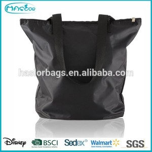 Promotional cheap custom polyester fabric shopping bag