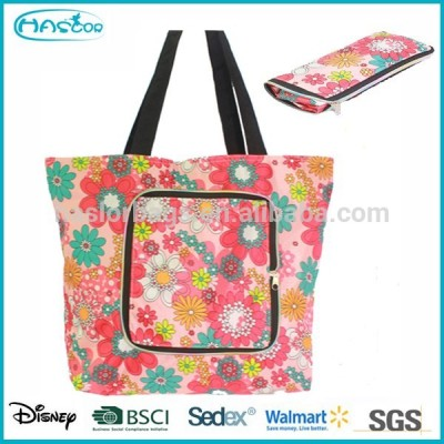 Hotselling New Design Polyester Funny Foldable Shopping bag