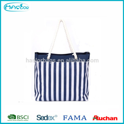 Women Hotselling Stripe Beach Tote Bag,600D Polyester Canvas Tote Bag