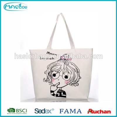 Trendy cheap recyclable shopping cotton bag with handle