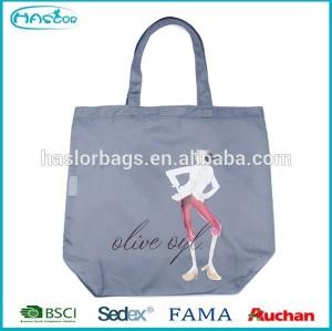Hot sale fashion design nylon shopping bag for girls