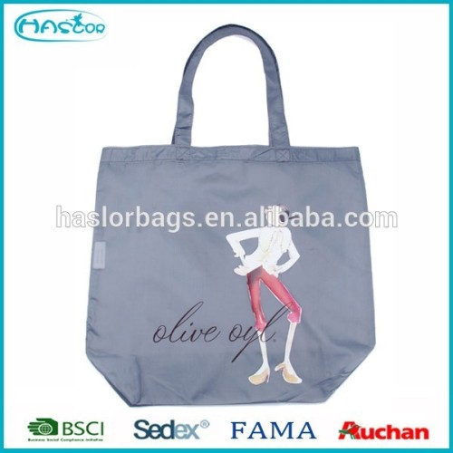 Hot sale fashion design nylon shopping bag for girls