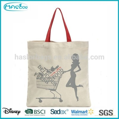 Wholesale Custom Fashion Cheap Recyclable Canvas Folding Tote Bag