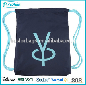 2015 New design your own drawstring backpack for sport& leisure