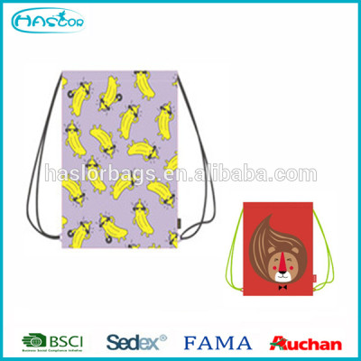 Cute polyester drawstring bag for promotion