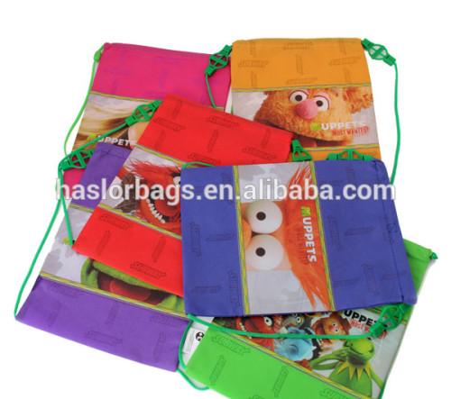 Wholesale custom printed cheap drawstring shoes bag