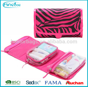 Manufacturer Foldable Popular Custom Satin Cosmetic Bag With Zebra
