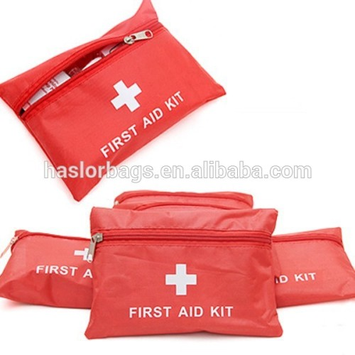Red cheap first aid medical pouch for home