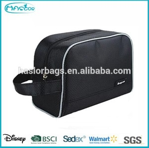 zippered organic wash bag, mens travel cosmetic bag