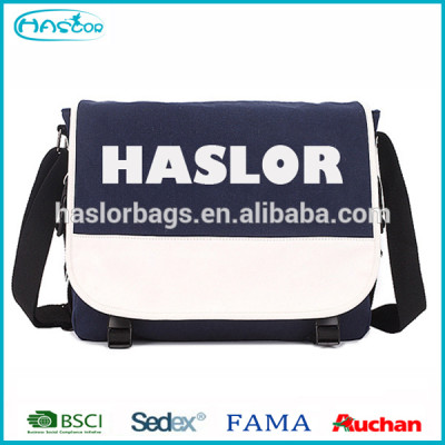 China Fashion Custom Canvas Mens Messenger Bag