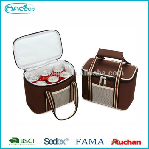 Fashion Polyester Electric Insulated Cooler Lunch Bag, Portable Mini Cooler Bag