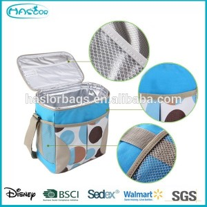 Cheap fashion lunch cooler bag with drink holder