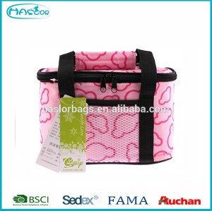 6 Pack cake thermal lined cooler bag for sale