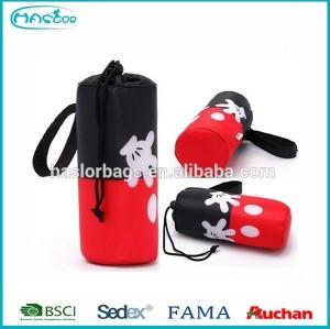 Custom clear wine cooler plastic bag/rolling cooler bag