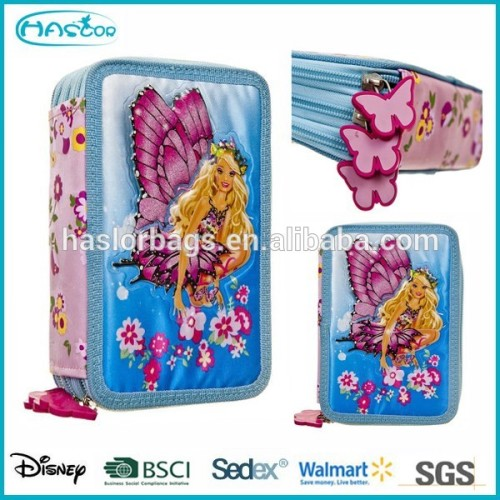 Cute Girl 3 Layers Pencil Case / Hard Pencil Case for Student