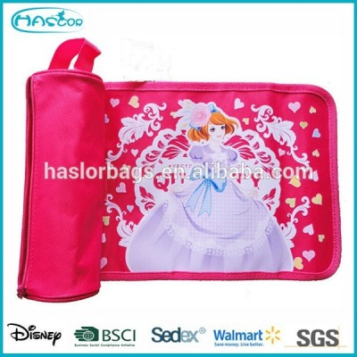Princess Pencil Bag /Roll Up Pencil Case for Girls