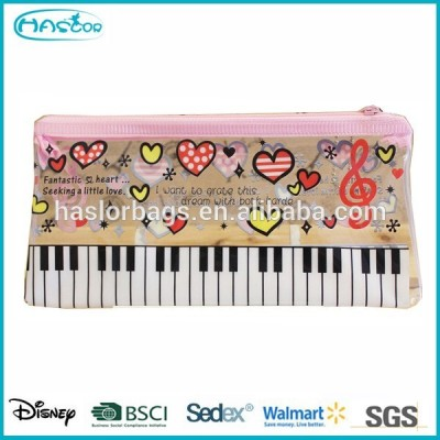 Office /School Piano Printing Pencil Bag/ Cheap Palstic Pencil Case
