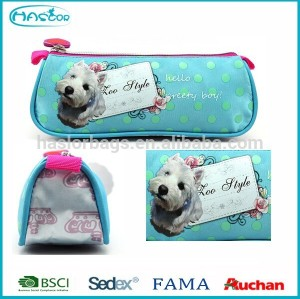 Custom printing fashion school pencil bag with zipper
