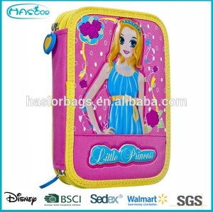 Cute Girl 2 Layers Pencil Case / Double Zipper Pencil Case for Girls