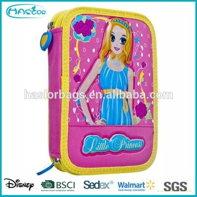 Cute Girl 2 Layers Pencil Case / Double Zipper Pencil Case for Girls