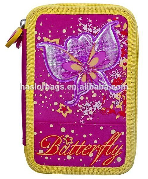 Butterfuly Pattern 3 Layers Pencil Case/Beautiful Pencil Case for Girls