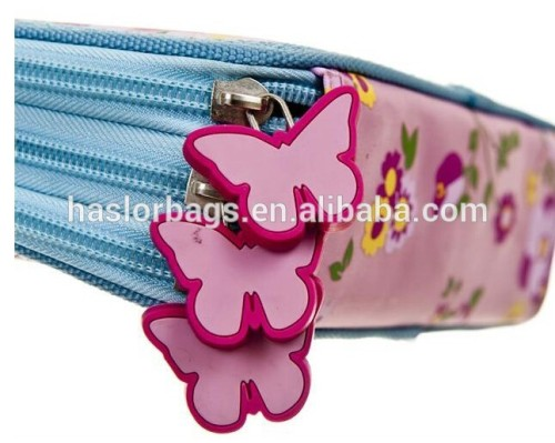 Cute Girl 3 Layers Pencil Case /Three Zipper Pencil Case for Student