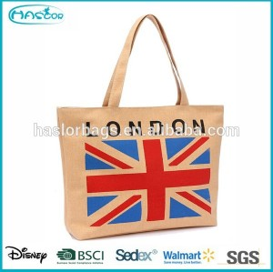 Hot Sale City Name Printed Canvas Tote Bag for Lady