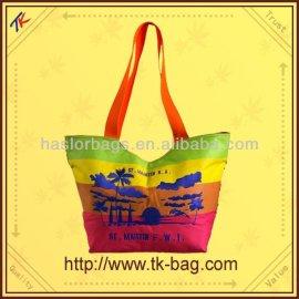 Très belle couleur belle sac à main tissu sacs de plage