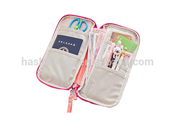 Wholesale New Style Young Girl Fashionable Passport Zipper Soft Travel Wallet
