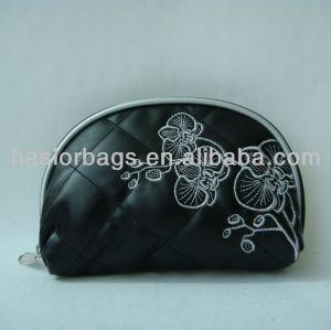 Hot Sale Black Color PU Lether Flower Purse