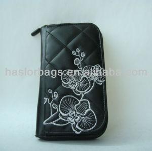 Ladies Fashion Black Leather Wallet