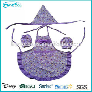 2014 New Fashion Long Sleeve Apron for Girl