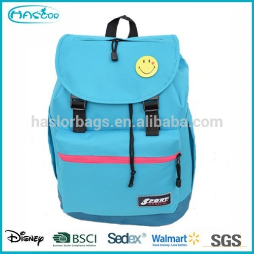 Manufacturer Bestselling Kids Blue Drawstring Backpack,High School Backpack